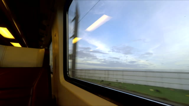 Window view from fast train in Holland video