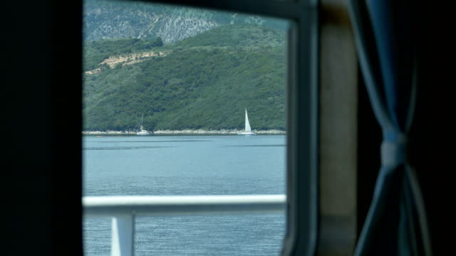 Window View Travelling by Ship video