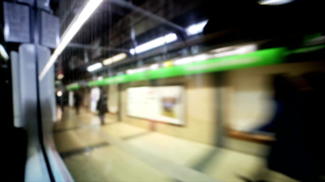 Window wagon of the subway video