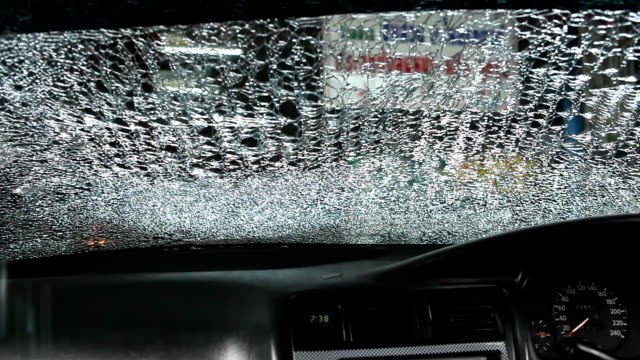 Windshield cracked video