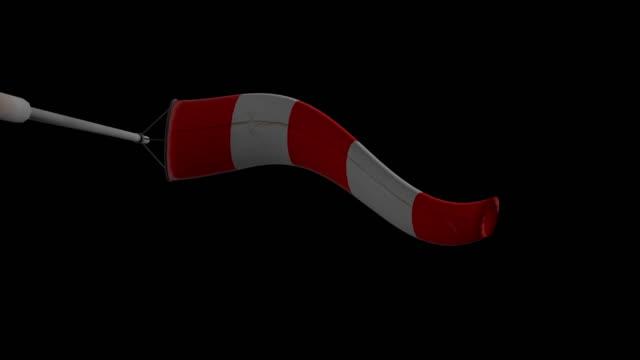 windsock- from below - rękaw filmów i materiałów b-roll