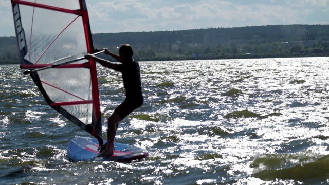 Windsurfer beginner video
