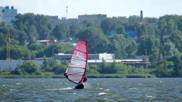 Windsurfer on the lake video