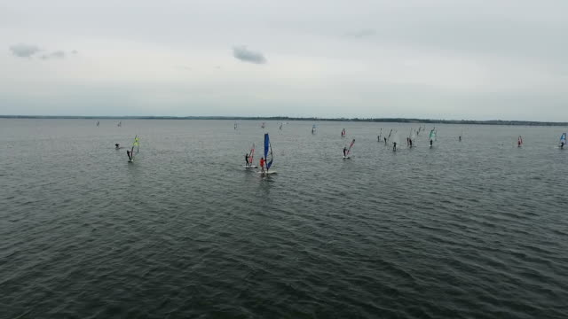 Windsurfing school. Hel, Poland video