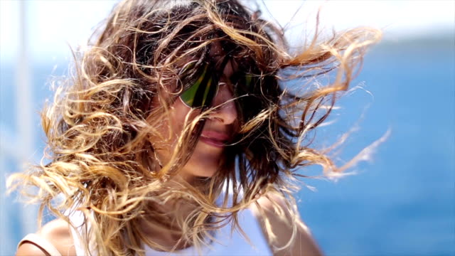 Windy day on ferry video