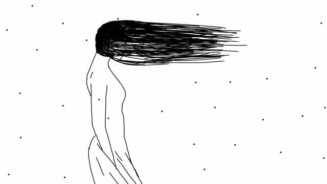 vídeos de stock e filmes b-roll de windy girl - surrealismo