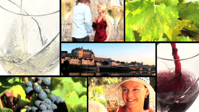 Wine and grapes montage  multiple image stock videos & royalty-free footage