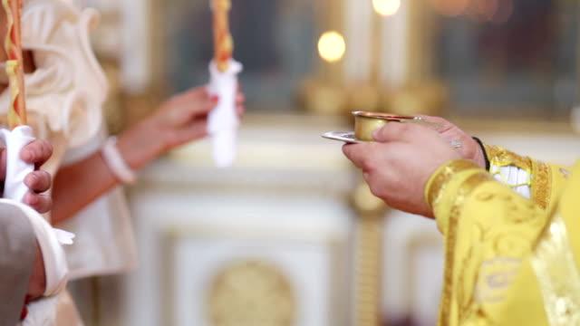 와인 결혼식 교회 - 찰리스 스톡 비디오 및 b-롤 화면