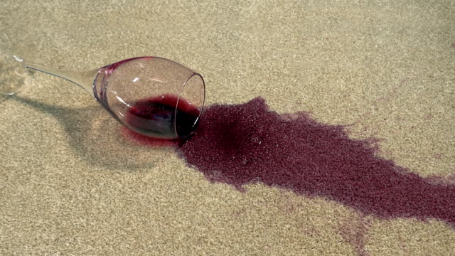 Wine Glass Drops Onto Carpet Big Stain video