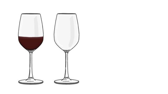 Wine glasses animation