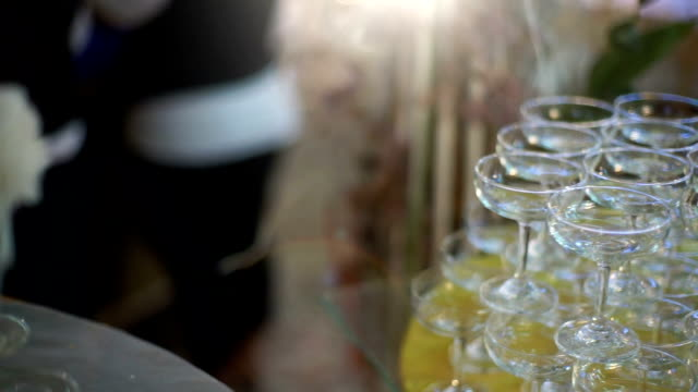 Wine glasses on a Table video