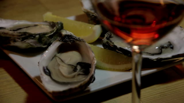 wine oysters video