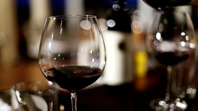 Wine pouring fine dining restaurant video