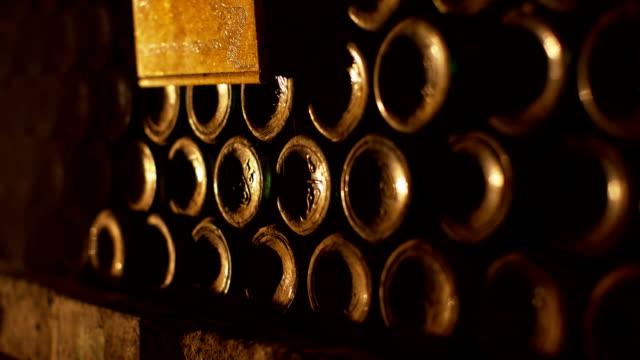 Wine underground cellar video