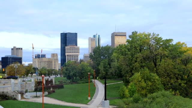 Winnipeg City Center op een mooie dag video