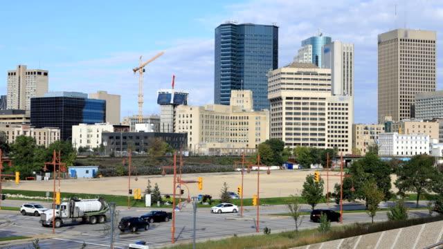 Winnipeg, Manitoba cityscape timelapse A Winnipeg, Manitoba cityscape timelapse fork stock videos & royalty-free footage