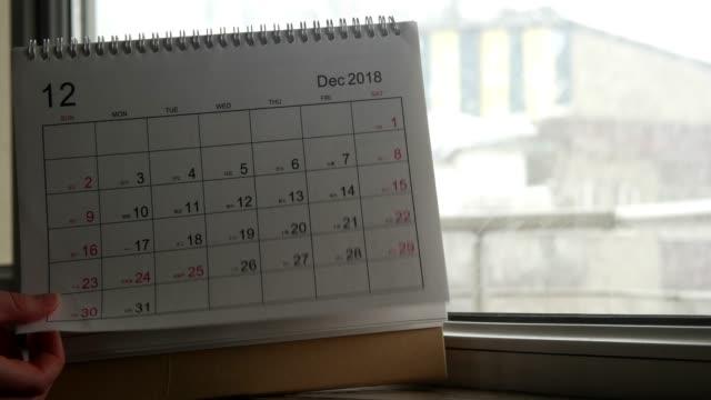 vidéos et rushes de hiver et calendrier - 2018