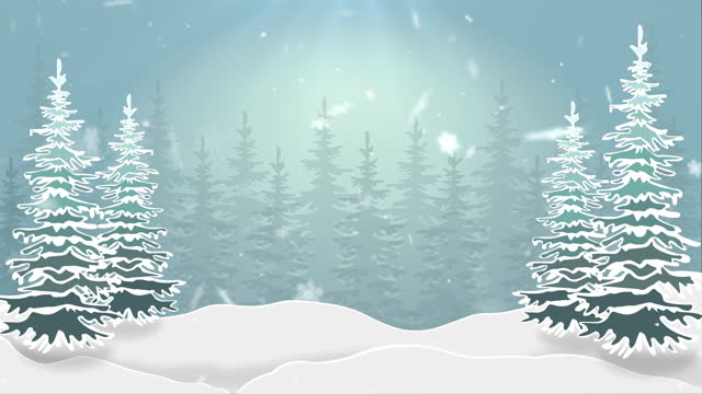 vídeos de stock e filmes b-roll de winter and christmas background with snowflakes falling animation - background christmas snow