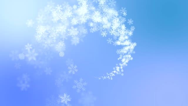 sfondo di inverno - spirale ricciolo video stock e b–roll