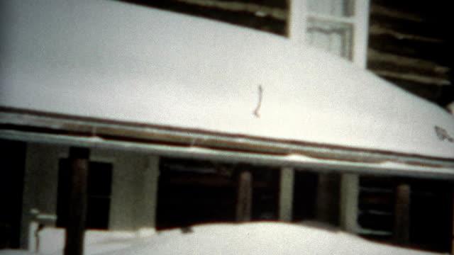 (8mm Film) Winter Cabin Snow Mover 1956 video
