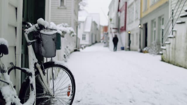 vídeos y material grabado en eventos de stock de tiempo de navidad de invierno en noruega: bergen - bergen