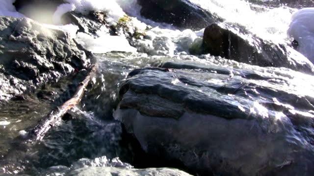 (Seamless Loop) Winter Creek Amazing View video