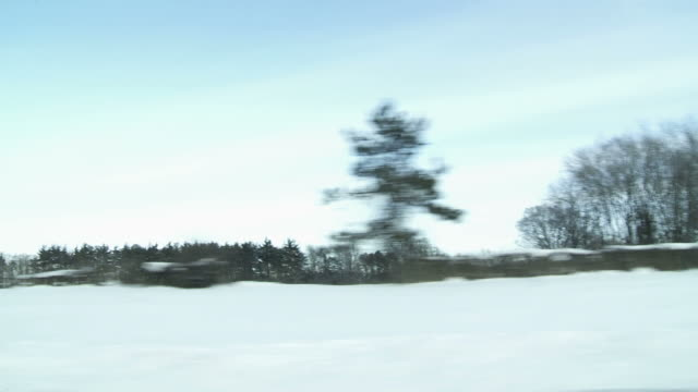Winter Driving 1 farmland video