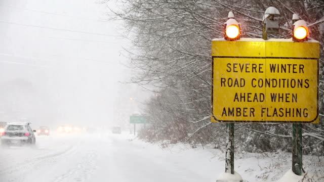 Winter Driving Snow Blizzard video