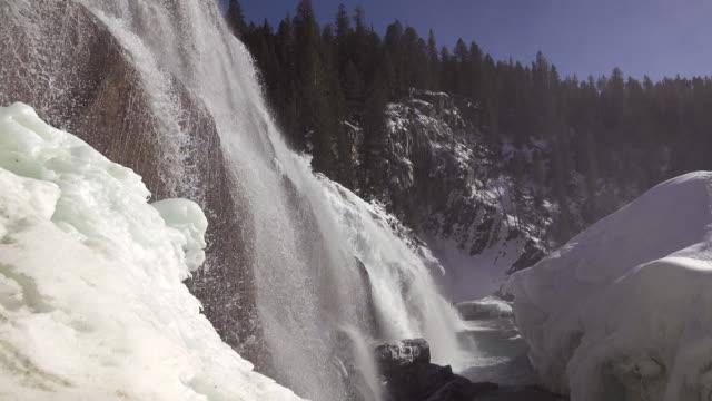 Winter Falls (4k) video