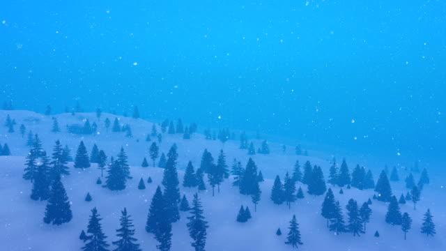 vinter fir skogen vid snöfall flygfoto - djupsnö bildbanksvideor och videomaterial från bakom kulisserna
