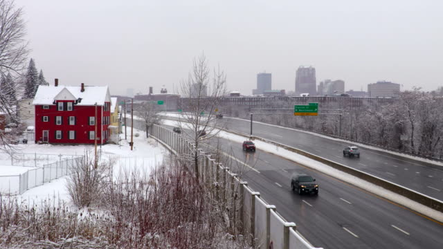 Winter in Manchester, New Hampshire