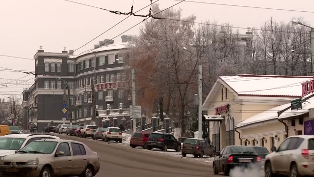 winter in the city of Kirov Russian province