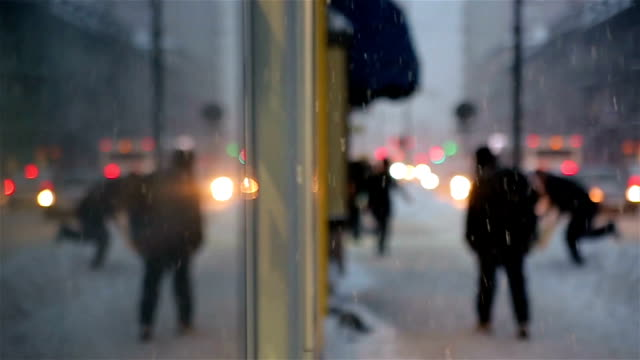 Winter in the city Winter in the city frozen stock videos & royalty-free footage