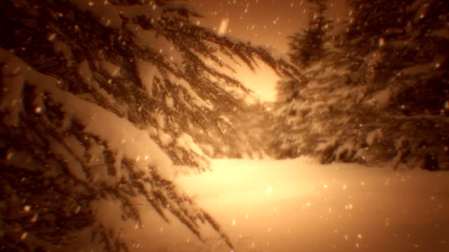 Winter landscape and snow (loopable) video
