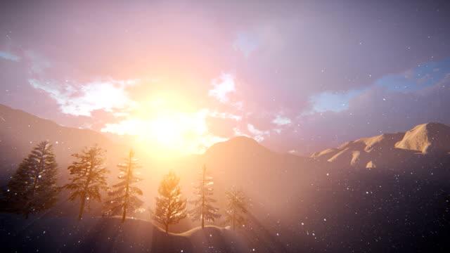 Winter Landschaft und Schnee – Video