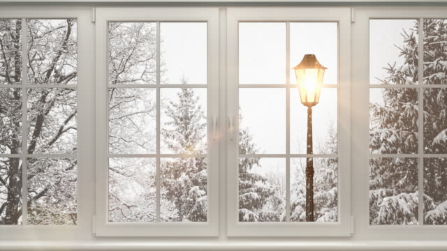 Winter Landscape Behind The Window | Loopable video