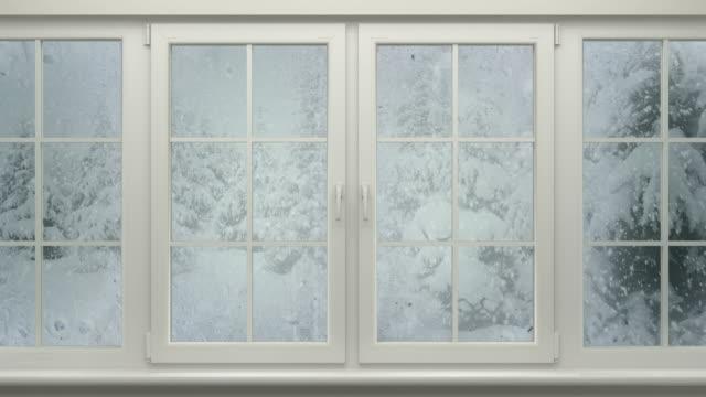 Winter Landscape Behind Window video