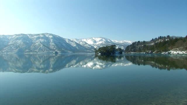 十和田冬の風景、湖、青森、日本 - 冬点の映像素材/bロール
