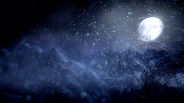 Winter landscape (night) - Loop video