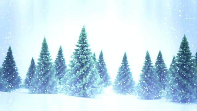 Winter landscape seamless loop background