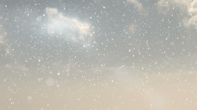 Winterlandschaft mit Schnee im Herbst – Video