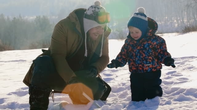 Winter Play with Daddy video