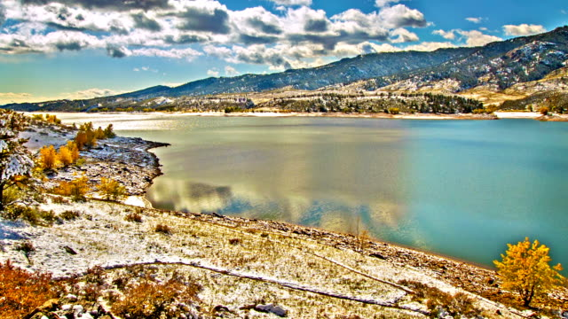 冬の川 - チロル州点の映像素材/bロール