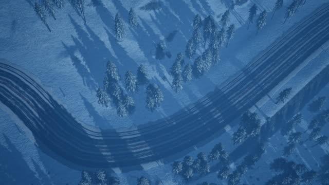 冬の道 - シベリア点の映像素材/bロール