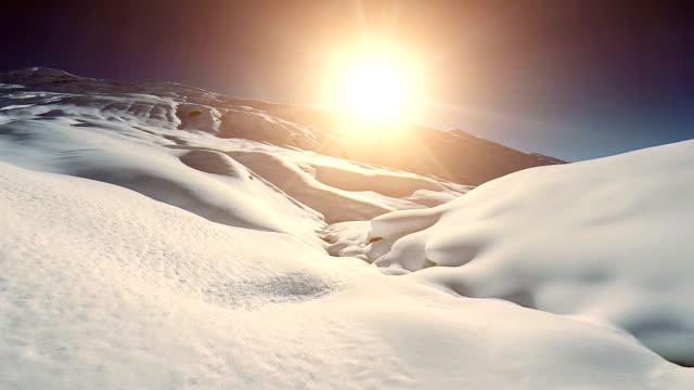 winter season holiday. snow mountain landscape video