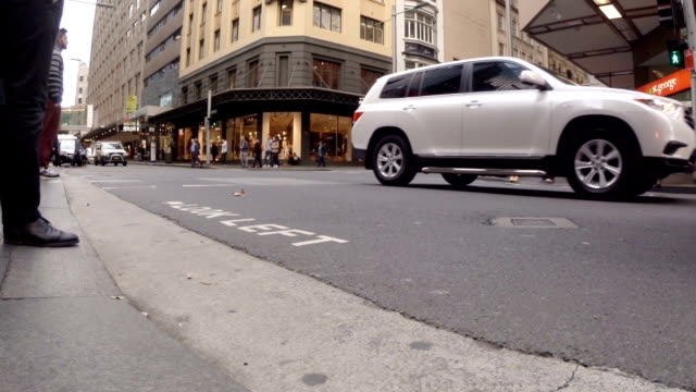Winter Shopping and Commuter Crowds in Sydney video