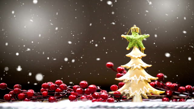 Winter snow background. Christmas card video