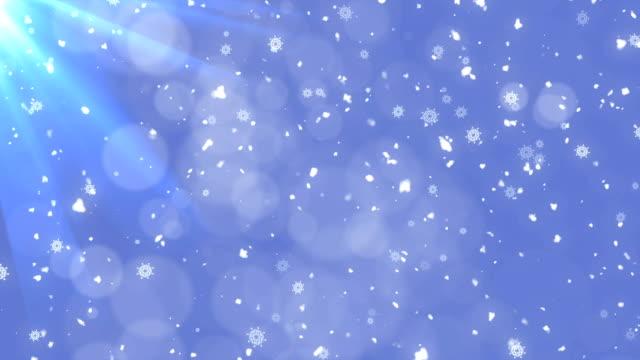Winter snow fall video