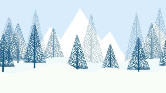 Winter snow landscape background with fir trees. cartoon 2D animation. Loop footage 4k Winter snow landscape background with fir trees. cartoon 2D animation. Loop footage 4k holiday stock videos & royalty-free footage
