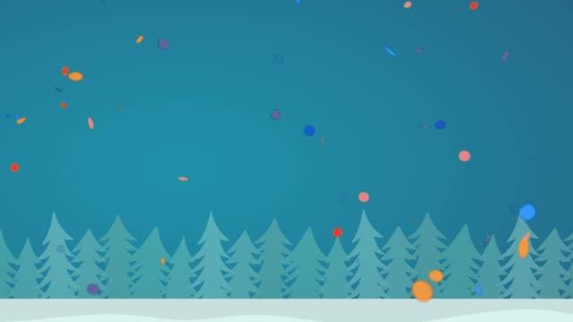 winter snowscape loop hd - weihnachtskarte stock-videos und b-roll-filmmaterial